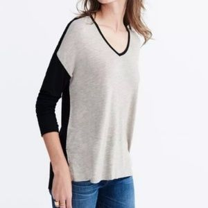 Madewell Beige and Black Tunic